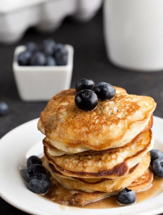 Blueberry Lemon Ricotta Pancakes