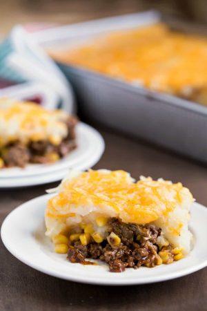 Barbecue Beef and Cheesy Potato Casserole