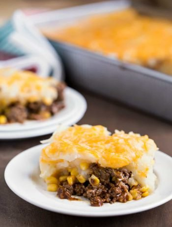 Barbecue Beef and Cheesy Potato Casserole
