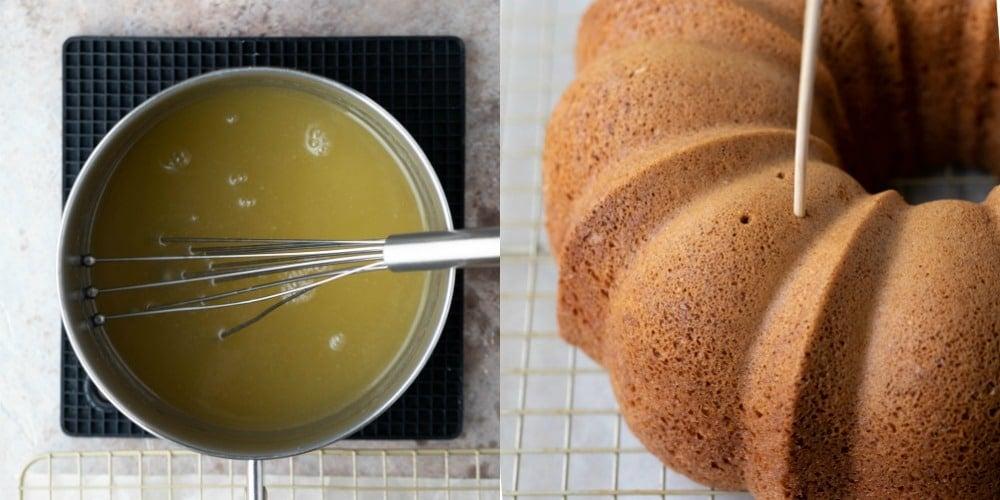 Baked Irish cream bundt cake