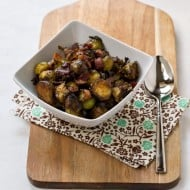 Maple, Balsamic, and Bacon Brussels Sprouts