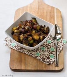 Maple. Balsamic, and Bacon Brussels Sprouts