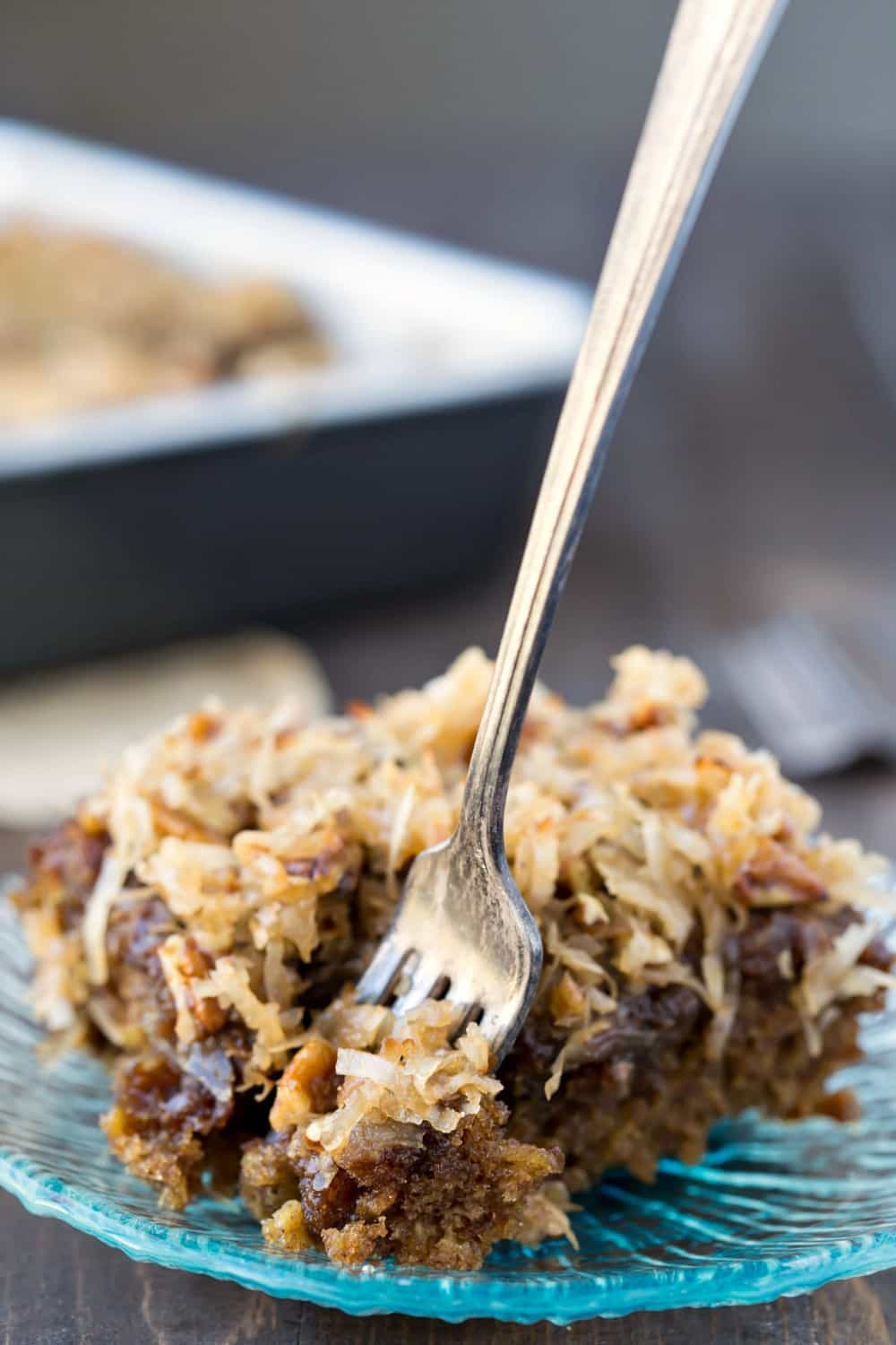 Oatmeal Cake With Broiled Coconut Topping