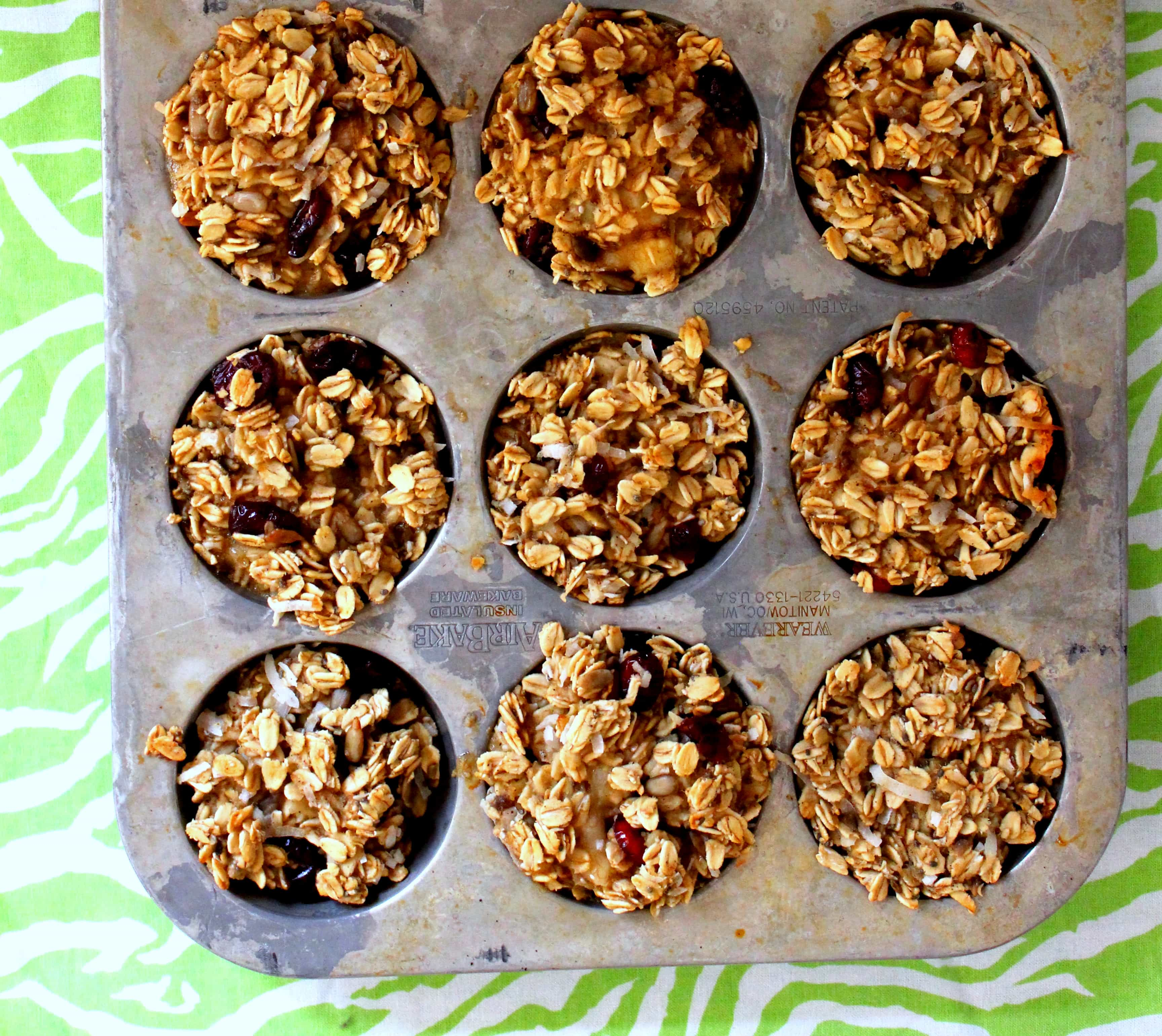 """Individual Baked Oatmeals or Oatmeal """"Cupcakes"""""""