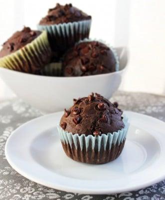 Chocolate-Chocolate-Cherry-Muffins