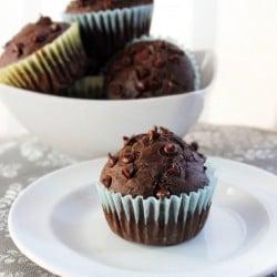 Chocolate Chocolate Cherry Muffins