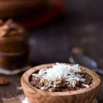Overnight Crock Pot German Chocolate Oatmeal