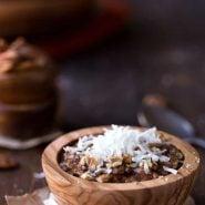Overnight Crock Pot German Chocolate Oatmeal