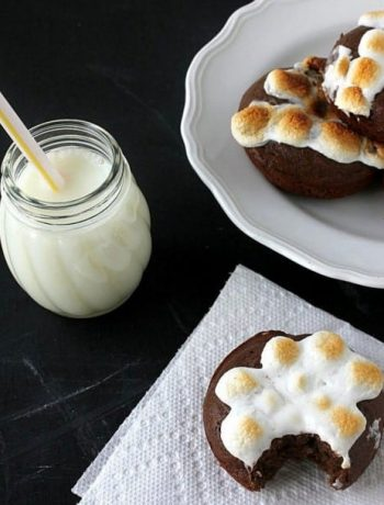 Peanut Butter S'mores Baked Doughnuts