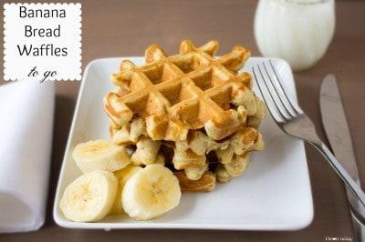 banana bread waffles to go