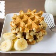 Banana Bread Waffles {To Go}