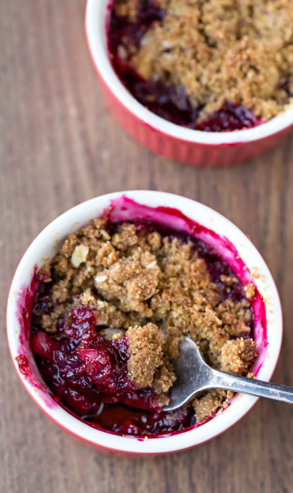 Blackberry Apple Cornmeal Crumble