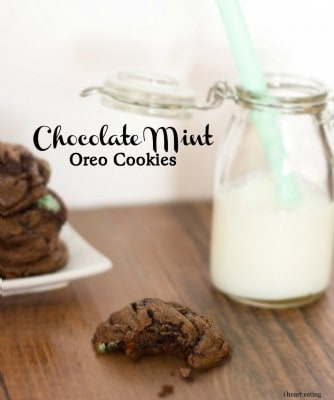mint oreo chocolate chip cookies