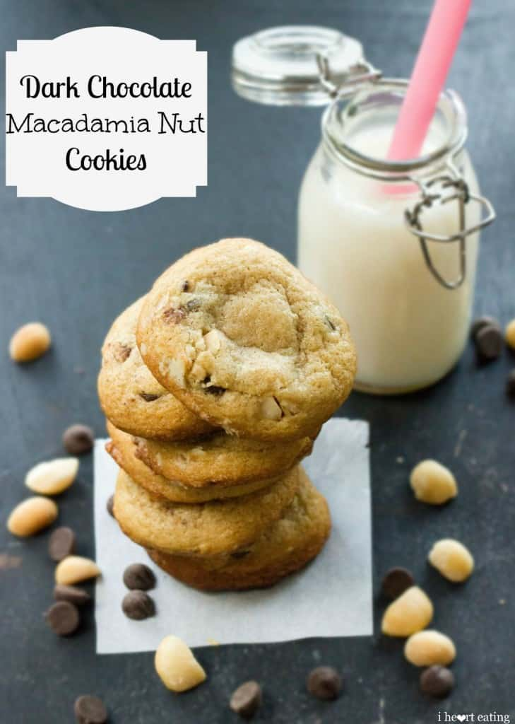 dark chocolate macadamia nut cookies