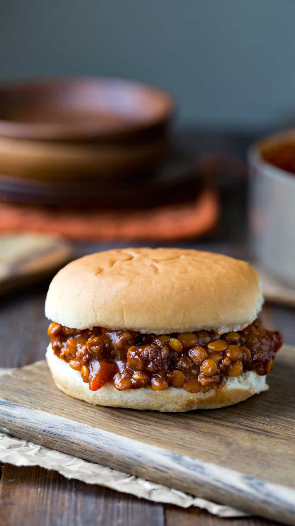 Beef and Lentil Sloppy Joes
