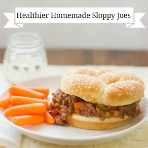 Healthier Homemade Sloppy Joes