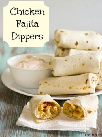 {Baked} Chicken Fajita Dippers