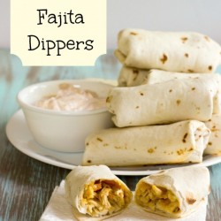 {Baked} Chicken Fajita Dippers