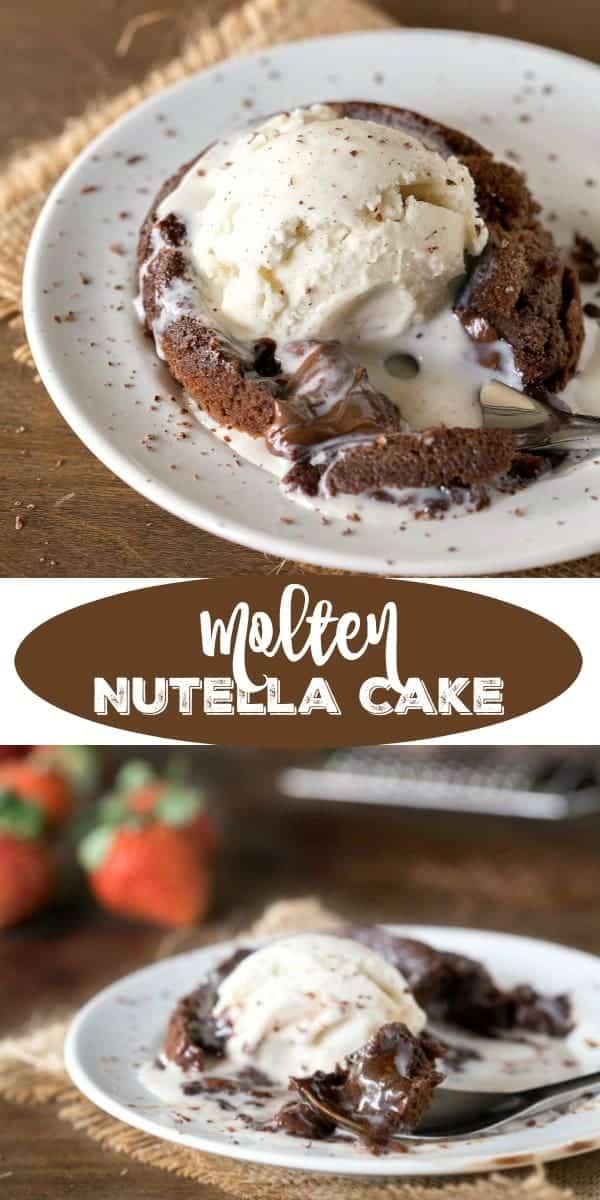 Molten Nutella Cake Recipe