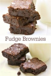 Fudge Brownies - Almost as easy as making a mix but taste so much better!