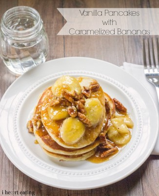 Vanilla Pancakes with Caramelized Bananas