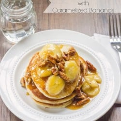 Vanilla Pancakes with Caramelized Bananas