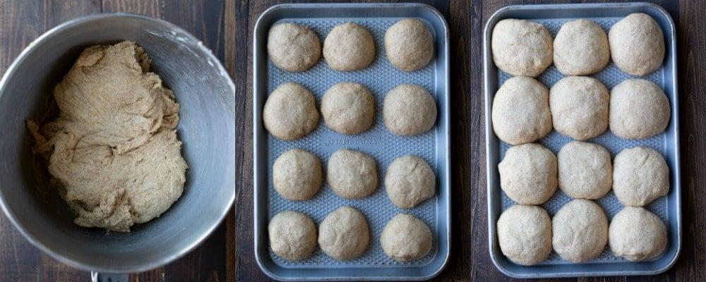 30 minute honey wheat roll dough