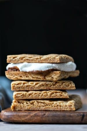 Stack of homemade graham crackers