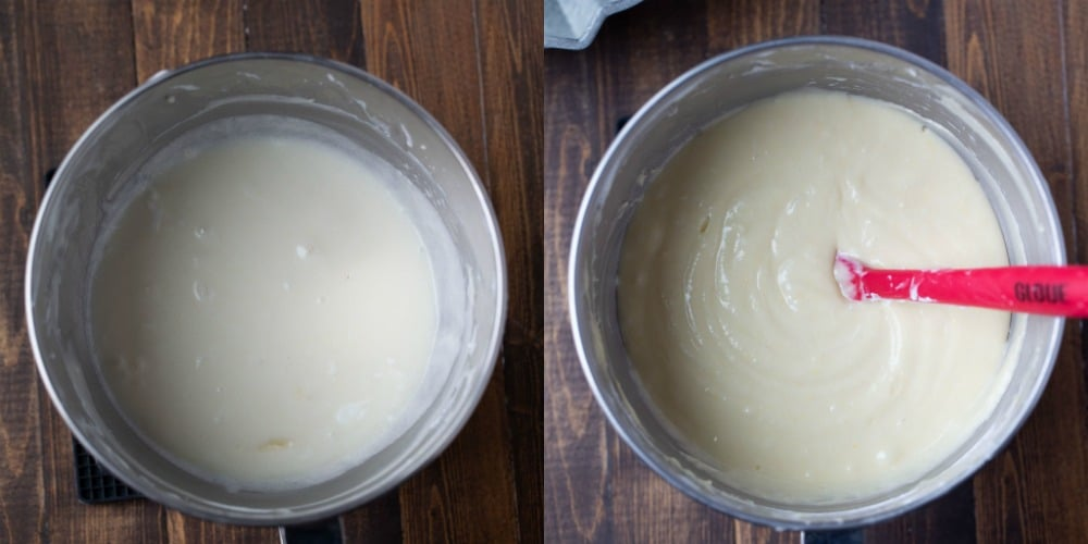 Greek yogurt pound cake batter