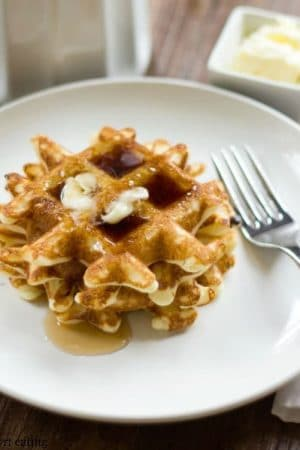 Light and Crispy Yeast Waffles