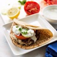 Greek Ground Chicken Burger Recipe