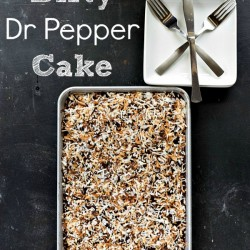 """Dirty"" Dr Pepper Cake"