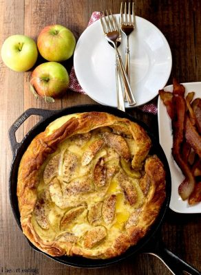 Caramelized Apple German Pancake