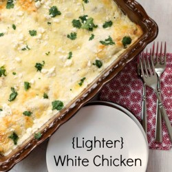 {Lighter} White Chicken Enchiladas
