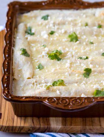 Lighter White Chicken Enchiladas
