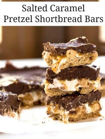 Salted Caramel Pretzel Shortbread Bars