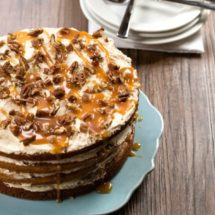 Browned Butter Pumpkin Spice Cake with Salted Caramel Buttercream