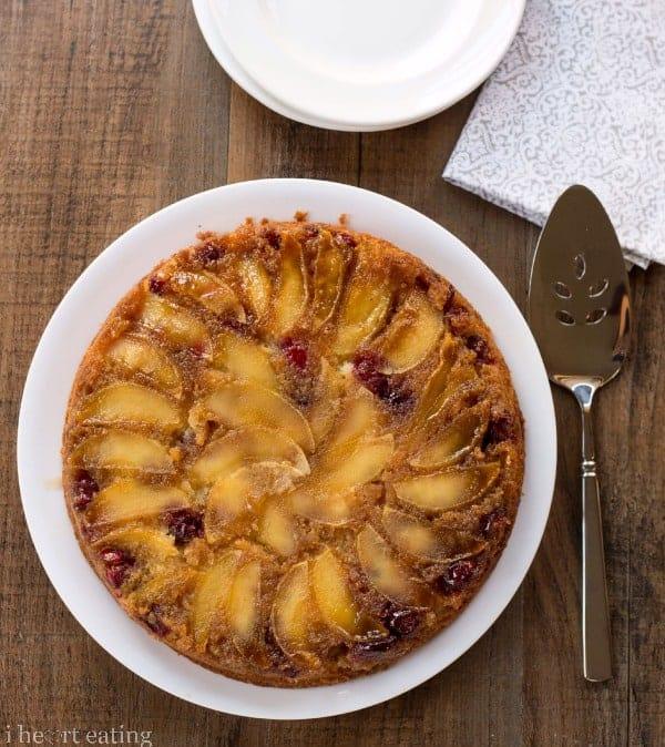 Cranberry-Apple Upside-Down Cake