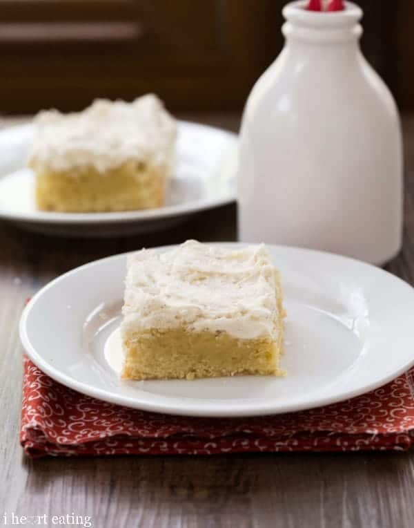 Sugar Cookie Bars with Vanilla Bean Frosting