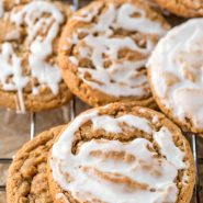 Iced Molasses Cookies