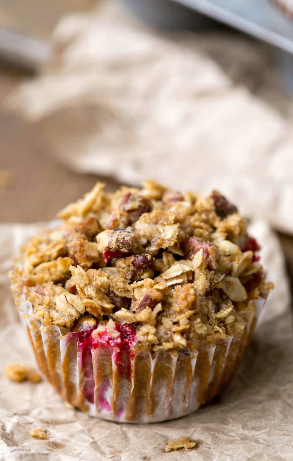 Pumpkin Cranberry Apple Crumble Muffin Recipe