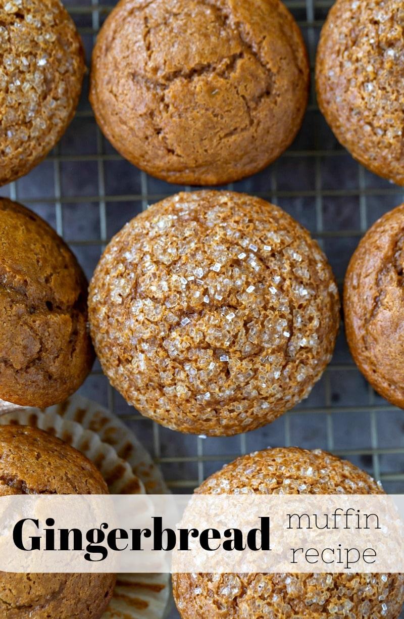 Moist gingerbread muffin recipe! #Christmas #muffin #breakfast #gingerbread #recipe