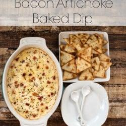 Bacon Artichoke Baked Dip