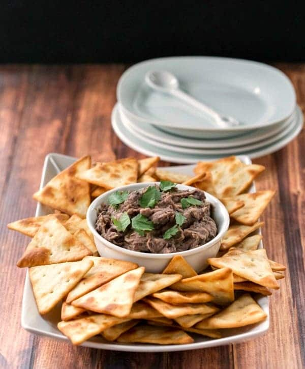 Roasted Garlic Black Bean Hummus