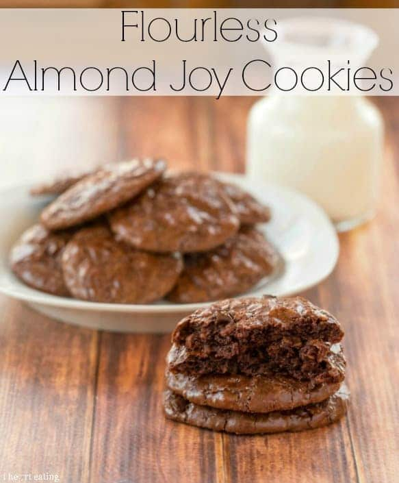 Flourless Almond Joy Cookies