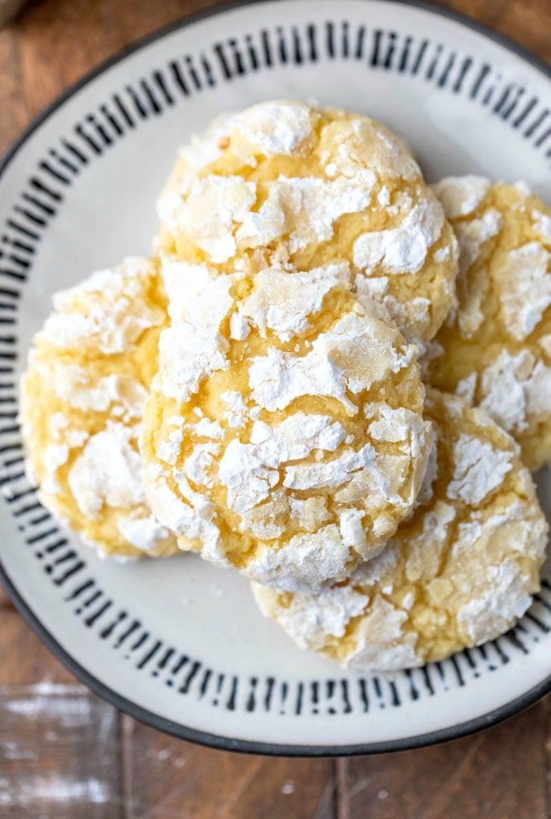 Stack of lemon coconut cookies