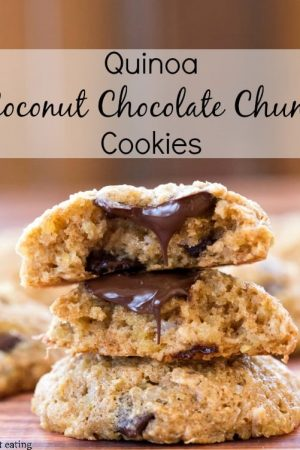 Quinoa Coconut Chocolate Chunk Cookies