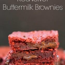 Red Velvet Buttermilk Brownies