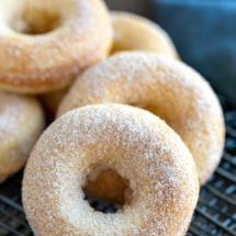 Stack of Cinnamon Sugar Baked Donuts