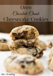 Oreo Chocolate Chunk Cheesecake Cookies
